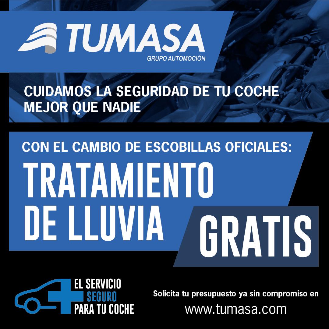 Tratamiento lluvia gratis en Huesca y Monzón. Oferta escobillas y ofertas taller en Huesca y Monzón